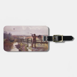 Vintage Duck Hunt Dog Sportsman Gun Luggage Tag