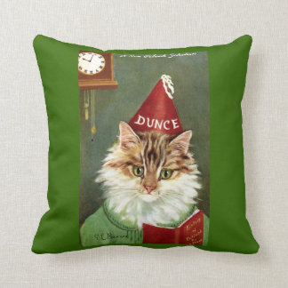 Vintage Dunce Cat and Scottish Soldier Cat Pillow