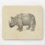 Vintage Durer Rhino Mouse Pad