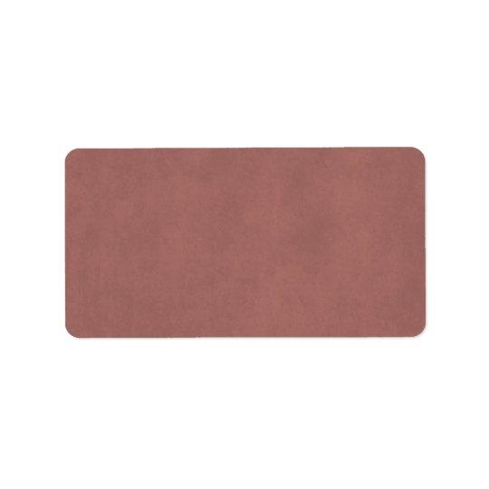 Vintage Dusty Dark Rose Parchment Paper Background Address Label