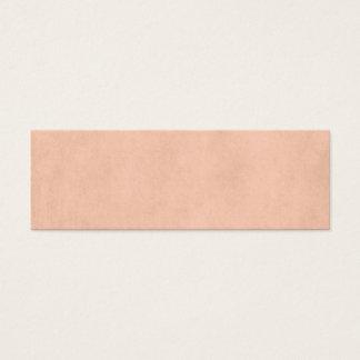 Vintage Dusty Peach Parchment Template Blank Mini Business Card