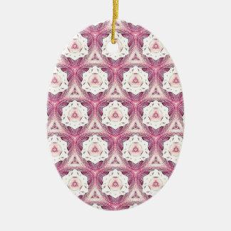 Vintage Dusty Rose Shade Modern Pattern Ceramic Oval Decoration