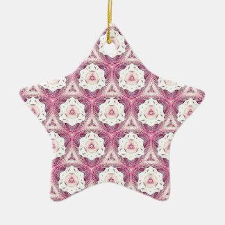 Vintage Dusty Rose Shade Modern Pattern Ceramic Star Decoration