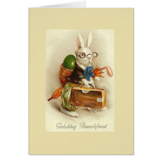 Vintage Dutch Gelukkig Paaschfeest Easter Card
