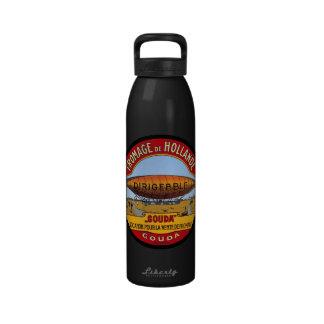 Vintage Dutch Gouda Cheese Label Reusable Water Bottles
