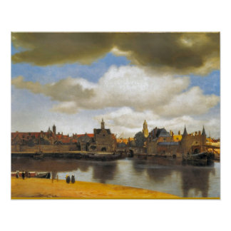 Vintage Dutch Image, Vermeer, view of Delft Poster