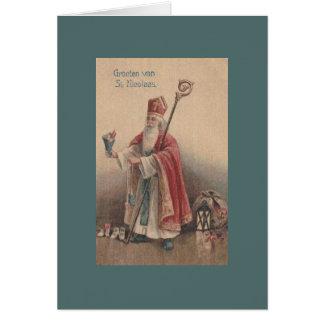 Vintage Dutch Saint Nicolaas Greeting Card