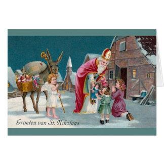 Vintage Dutch Saint Nikolaas Greeting Card