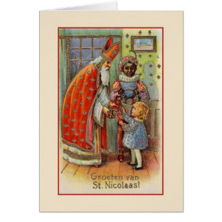 Vintage Dutch St. Nicholas Greeting Card