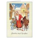 Vintage Dutch St. Nicholas Nicolaas Christmas Card