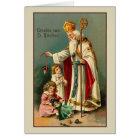 Vintage Dutch St. Nikolaas Christmas Card