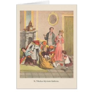 Vintage Dutch St. Nikolaas Greeting Card