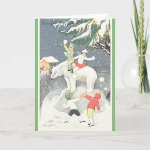 Dutch christmas cards zazzle vintage dutch vroolijk kerstfeest christmas card m4hsunfo