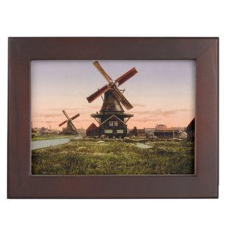 Vintage Dutch Windmills custom keepsake box