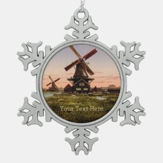 Vintage Dutch Windmills custom ornaments