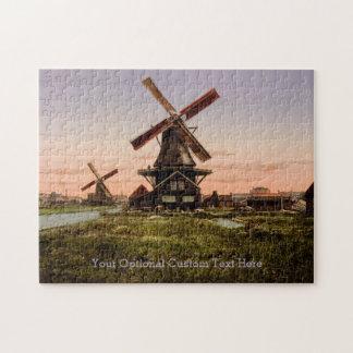 Vintage Dutch Windmills custom puzzle