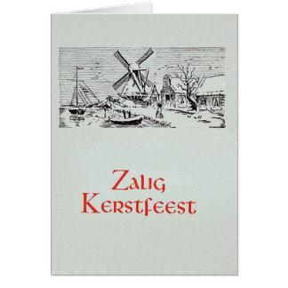 Vintage Dutch Zalig Kerstfeest Christmas Card