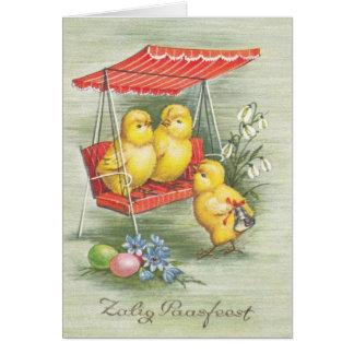 Vintage Dutch Zalig Paasfeest Easter Card