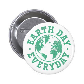 Vintage Earth Day Everyday Pinback Button