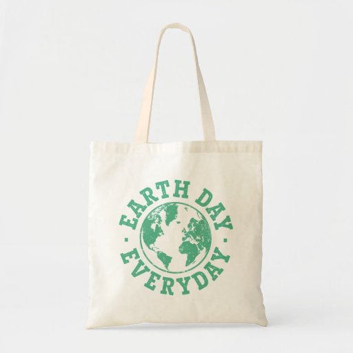 Vintage Earth Day Everyday Canvas Bags