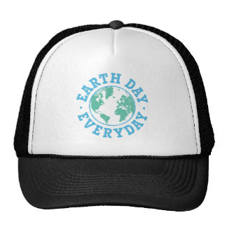 Vintage Earth Day Everyday Mesh Hat