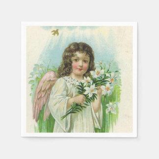Vintage Easter Angel Holiday paper napkins