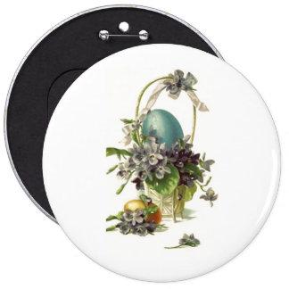 Vintage Easter Basket Pinback Button