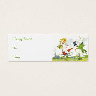 Vintage Easter basket gift tags Mini Business Card