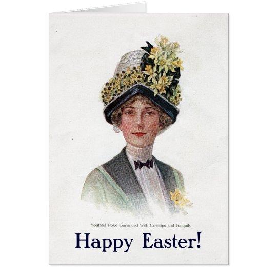 Vintage Easter Bonnet Card