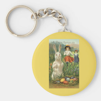 Vintage Easter Bunny and Eggs, Happy Eastertide Key Chains