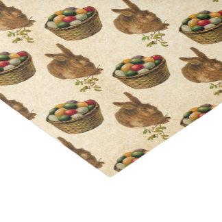 Vintage Easter bunny basket party tiled tissue Tissue Paper