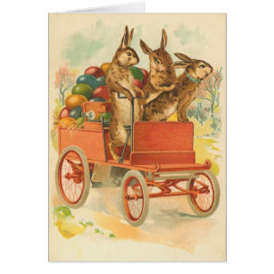 Old fashioned easter gifts on zazzle au vintage easter bunny card negle Images
