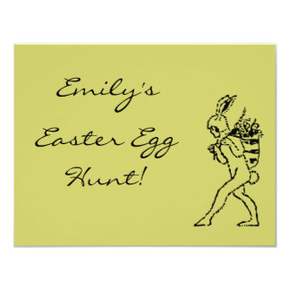 Vintage Easter Bunny Easter Egg Hunt Invitation