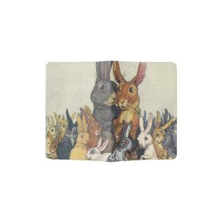 Vintage Easter bunny family Passport Holder
