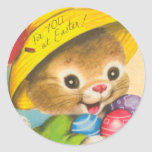 Vintage Easter Bunny Kid Stickers