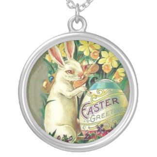 Vintage Easter Bunny Necklace