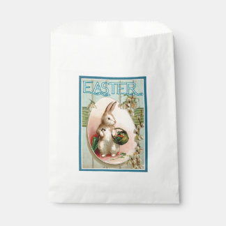 Vintage Easter Bunny Painting Favor Bag