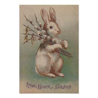 Vintage Easter Bunny Rabbit Photo Print
