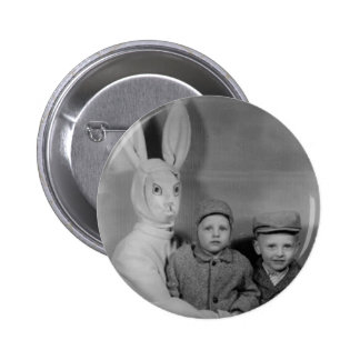 Vintage Easter Bunny - Scary 6 Cm Round Badge