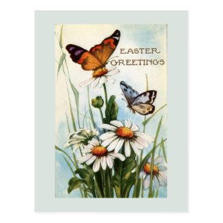 Vintage Easter Butterflies Post Card
