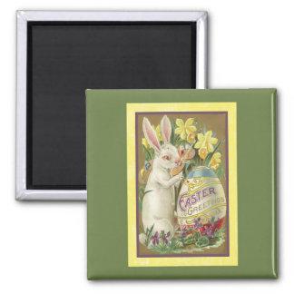 Vintage Easter Card (23) Square Magnet