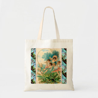Vintage Easter cherubs and eggs Canvas Bags
