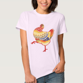 Vintage Easter, Colorful Chicken from the Farm Tee Shirt