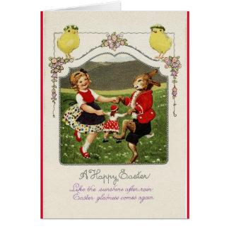 Vintage Easter Dancers Card