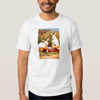 Vintage Easter Egg Bunny Chicks Easter Card T Shirt