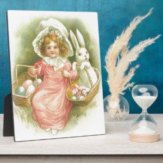 Vintage Easter Egg Gathering Plaque