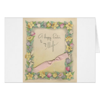 """Vintage Easter For Wife """"Mario"""" Card"""