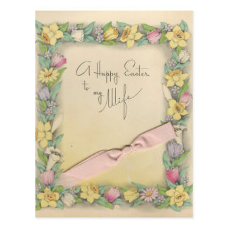 """Vintage Easter For Wife """"Mario"""" Postcard"""