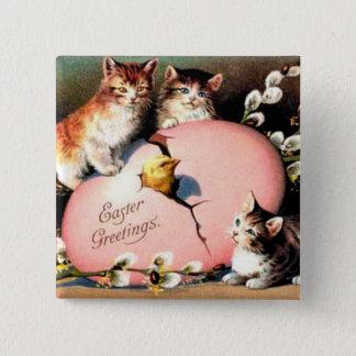 Vintage - Easter Greetings 15 Cm Square Badge