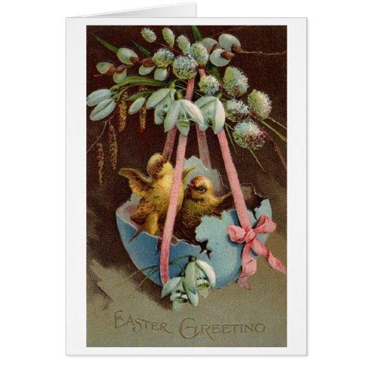 Vintage Easter Greetings!  Victorian Easter Card